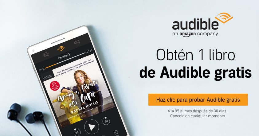 Audible gratis Amazon para audiolibros en español